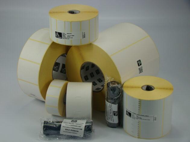 Zebra etiketten Desktop etikettenprinters 25mm kern en max. 127mm roldiameter